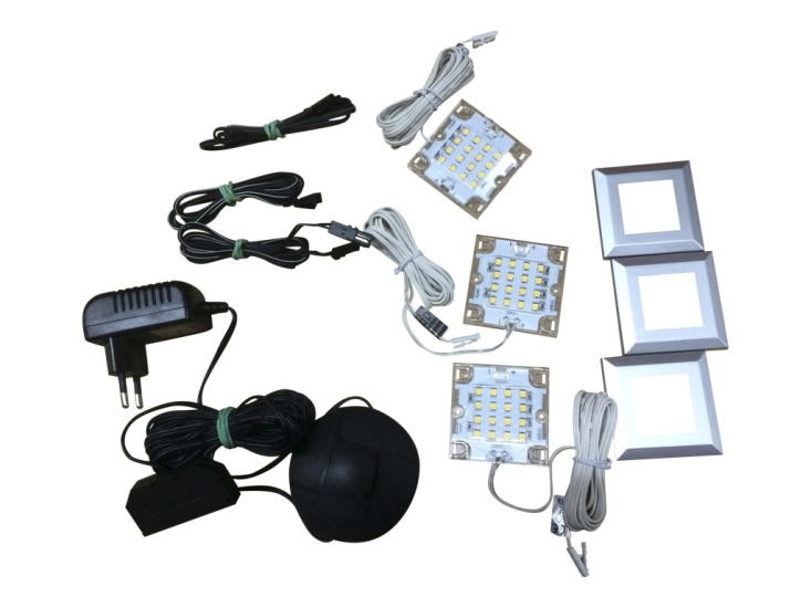 Lot de 3 spots LED sous tablette CREEK/BELLA/PRIME 1100-763-00