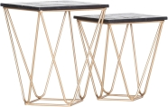 Lot de 2 tables d'appoint SCAN