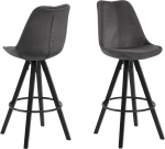 Lot de 2 tabourets de bar DIMA