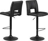 Lot de 2 tabourets de bar SYLVIA
