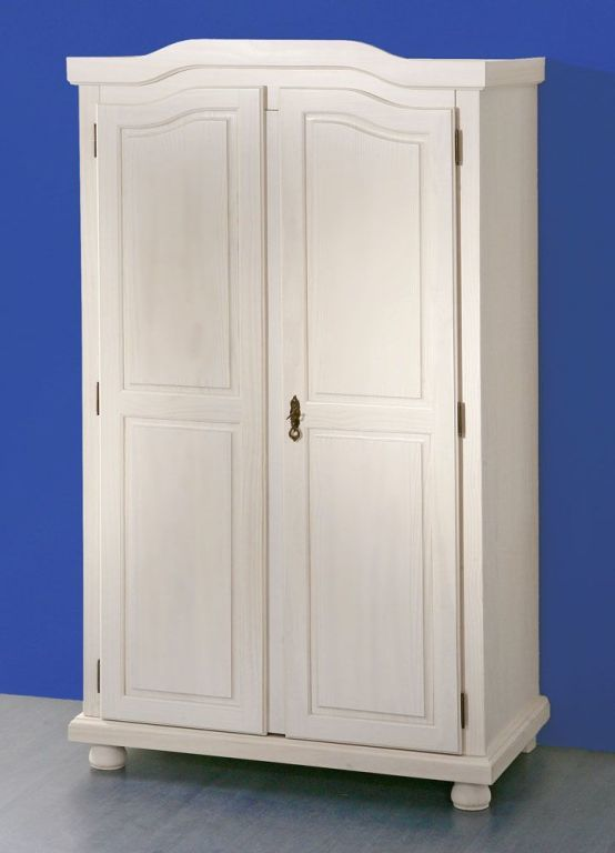 armoire v tements hedda pin massif blanc sb meubles discount. Black Bedroom Furniture Sets. Home Design Ideas