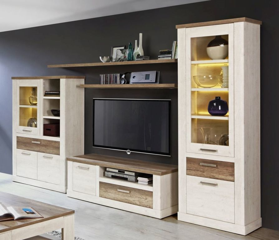 mur tv duro sb meubles discount. Black Bedroom Furniture Sets. Home Design Ideas