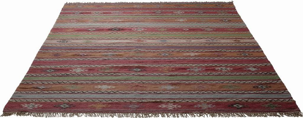 Tapis JAIPUR marron/rouge | SB Meubles Discount