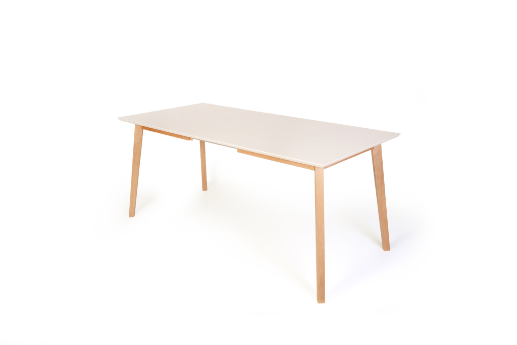 Table extensible 140 x 80 cm vinko ch ne laqu ton naturel for Table extensible 80