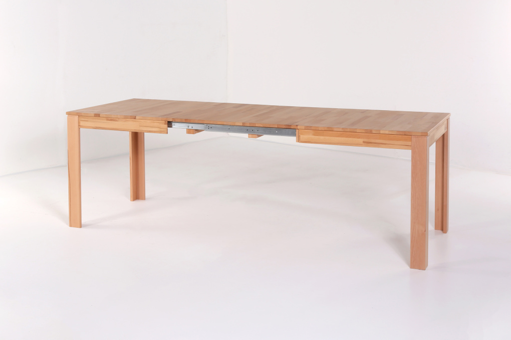 Table extensible 140 x 80 cm pedro c ur de h tre sb for Table extensible 80 cm de large