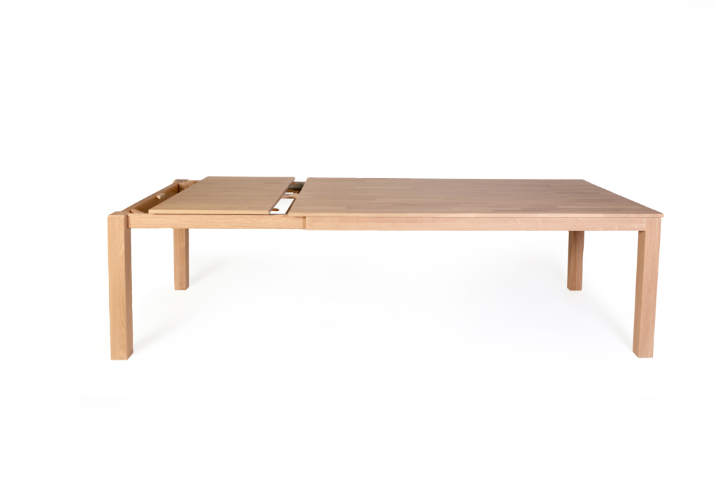 Table extensible 160 x 90 cm karo 1xl ch ne bianco sb for Table 160 cm avec rallonge
