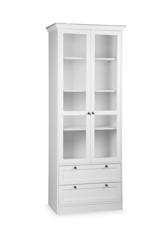meuble vitrine landwood 51 ton blanc sb meubles discount. Black Bedroom Furniture Sets. Home Design Ideas
