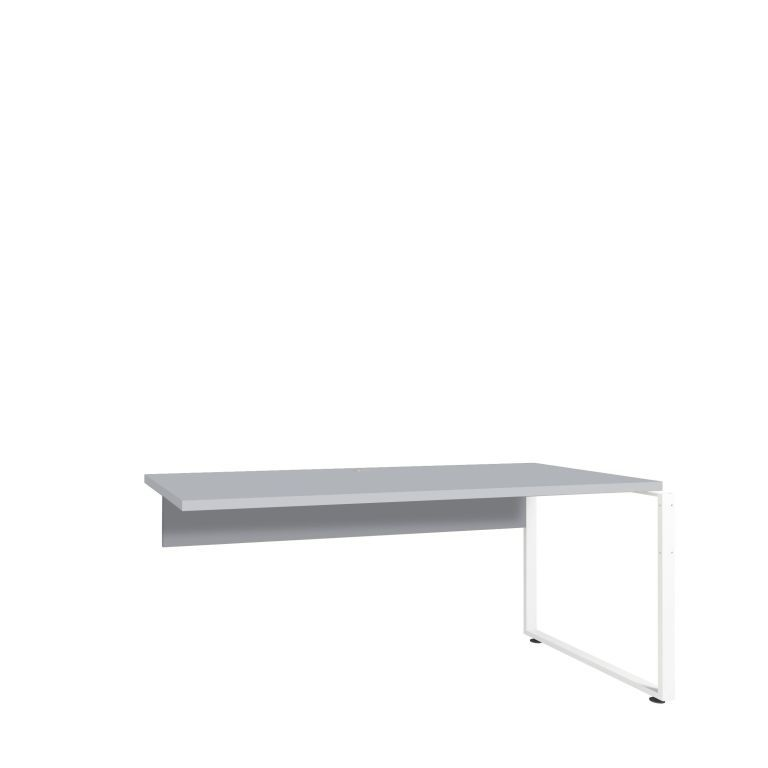 plateau pour bureau d 39 angle gris platine m tal blanc sb meubles discount. Black Bedroom Furniture Sets. Home Design Ideas