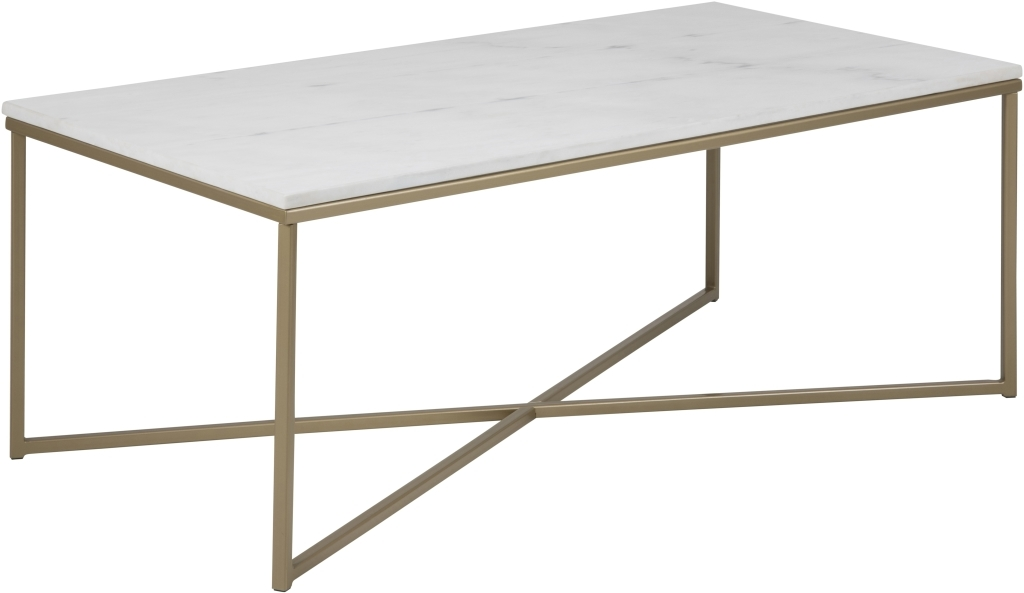 Table Basse Alisma Marbre Metal Ton Laiton Sb Meubles